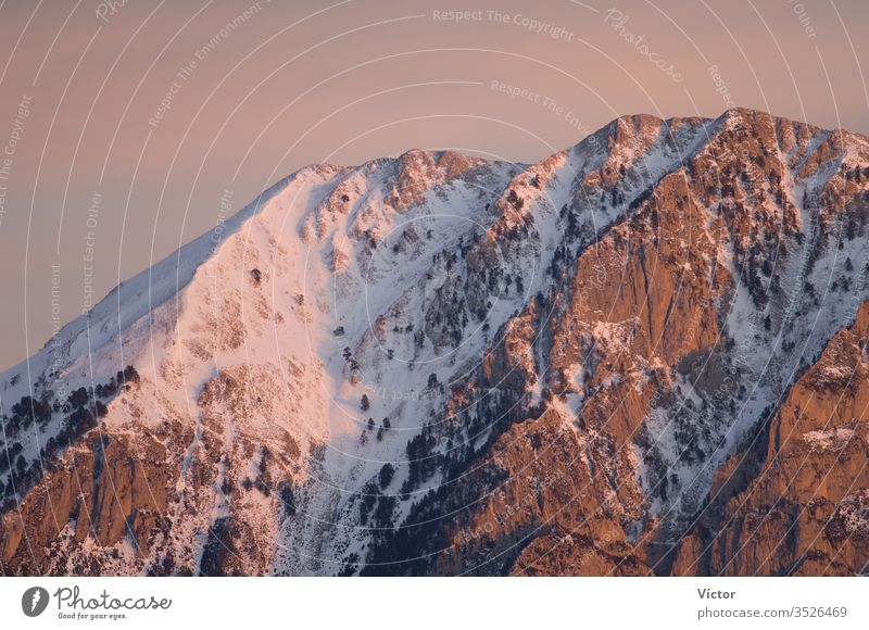 Peaks of the Ordesa y Monte Perdido National Park from Alto Añisclo. Pyrenees. Huesca. Aragon. Spain. aragon cliff cliffs cold color colors colour colours crag