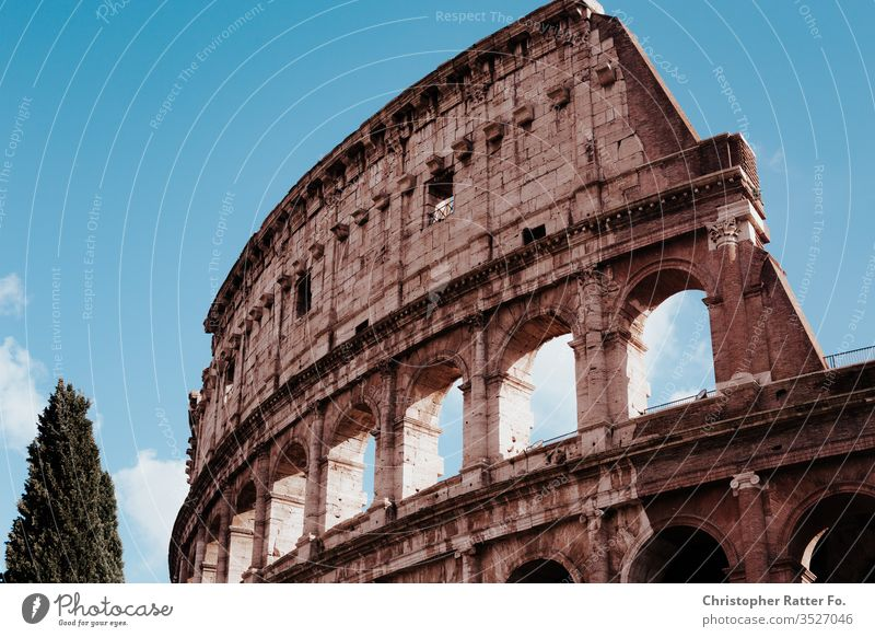 Colosseum of Rome in sunlight voyage Italy Tourism Vacation & Travel Exterior shot Serene Destination Travel photography South Colour photo Card Romance Europe