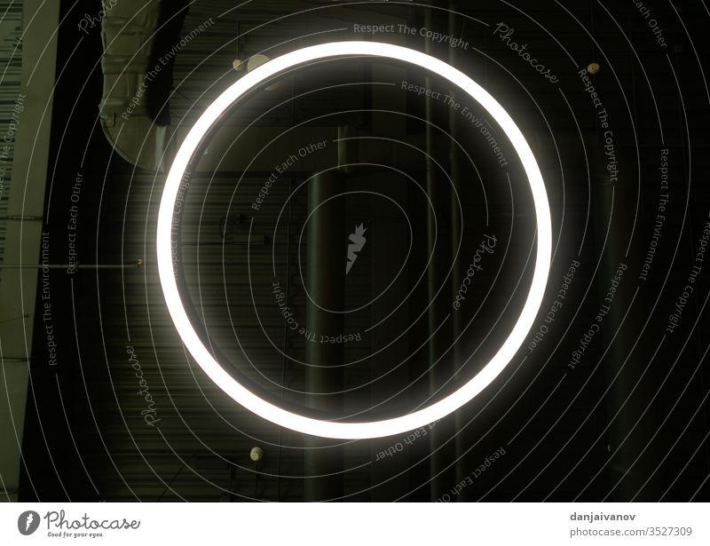 Abstract Glowing Circle, Elegant Light ring round shine frame twist glow effect flare neon digital modern fantasy tech abstract bright circle light border