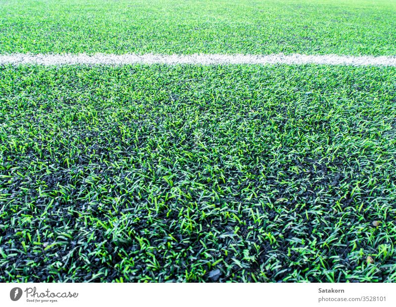 Texture of plastic artificial grass and the rubber pellets on school yard turf background green texture surface cover color pattern black recreation floor lawn