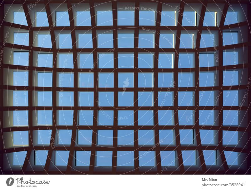 Window Window Window Skylight Architecture Structures and shapes Above Metal Glass Roof Floodlight Bright Detail built Atelier Light Abstract Manmade structures