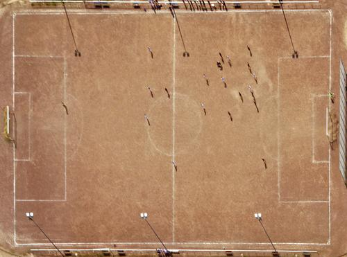 Sports field from above Sporting grounds ash pit Hard court soccer Football pitch Leisure and hobbies Playing field Sporting Complex Ball sports Bird's-eye view