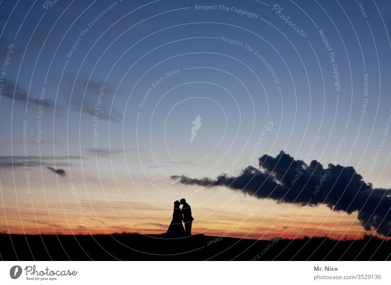 Kiss before sunset Sunset Woman Man Kissing Love Couple couple Lovers Together Relationship Harmonious Affection Trust luck Related Infatuation Sunrise Romance