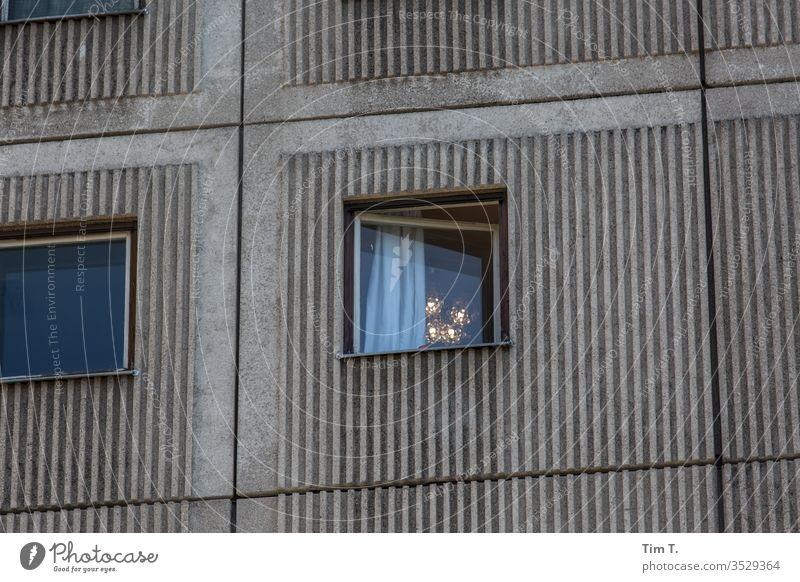 alex Berlin Window Prefab construction Alexanderplatz Chandelier Lamp Architecture Concrete High-rise Living or residing Story Town Facade Room Curtain
