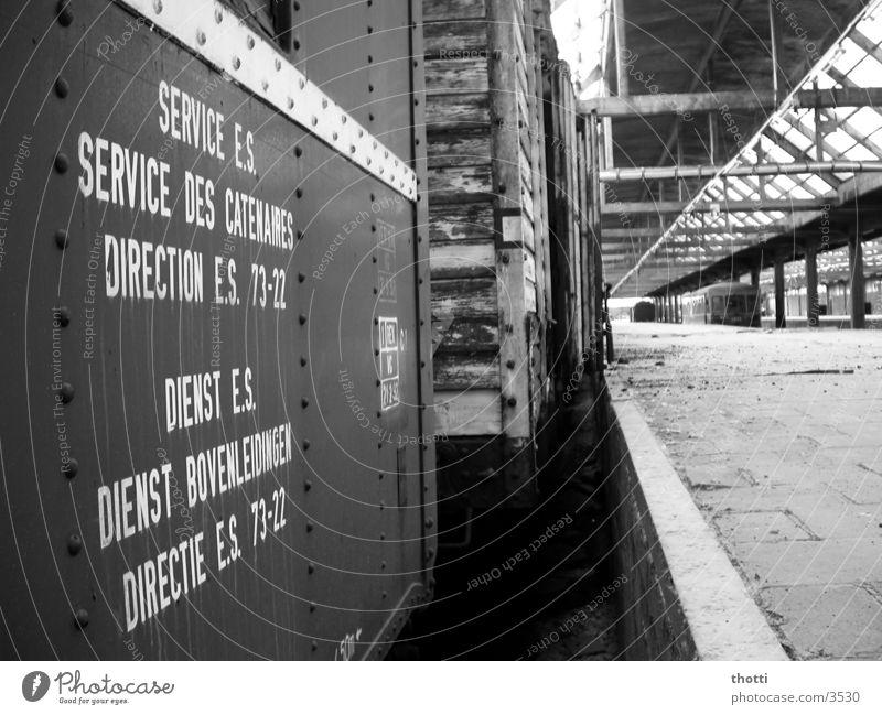 Loneliness Dirty Transport Railroad Railroad tracks Services Train station Goods Railroad car Shut down