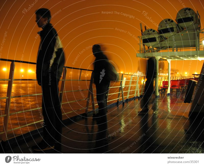 Human being Ocean Far-off places Watercraft Coast Vantage point Harbour Navigation Ferry