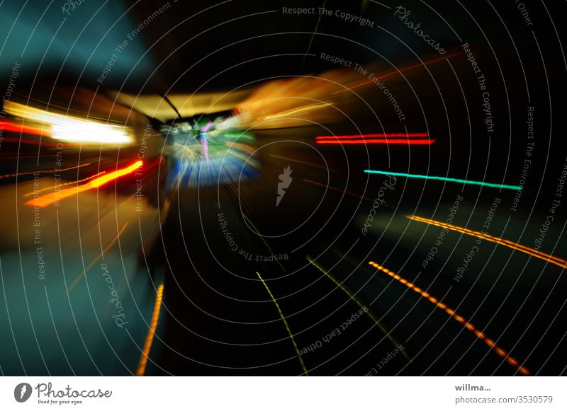 speed Motoring tempo Intoxication drugs Hallucination Speed zoom Zoom effect Navigation system navi navigation device Navigator Tunnel Tunnel vision unreal