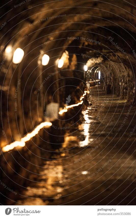 always along the lights Nature Earth Sand Water Hill Rock Alps Adventure Tunnel Tunnel lighting Mining Corridor Underground Lanes & trails Direction Lamp Damp
