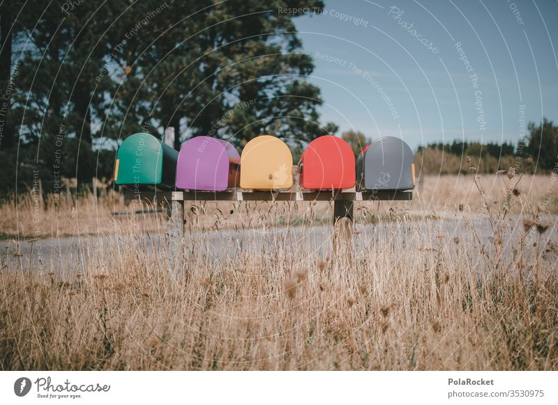 #AS# shell company? Mailbox letterbox system New Zealand New Zealand Landscape Colour photo colourful Card Zip code