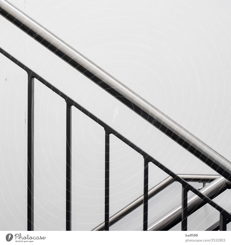 Stainless steel railing in the staircase handrail Handrail Banister Staircase (Hallway) High-grade steel brushed Glittering Minimalistic Modern minimalism