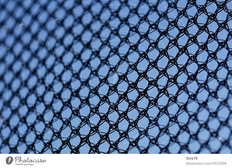 Network - safety net of a trampoline, detailed view Reticular cross-linked little story knitted goods Plastic plastic Protection Shielding Colour photo Deserted