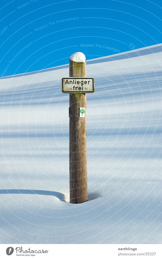 Sky Winter Loneliness Snow Mountain Wood Signs and labeling Beautiful weather Pole Harz