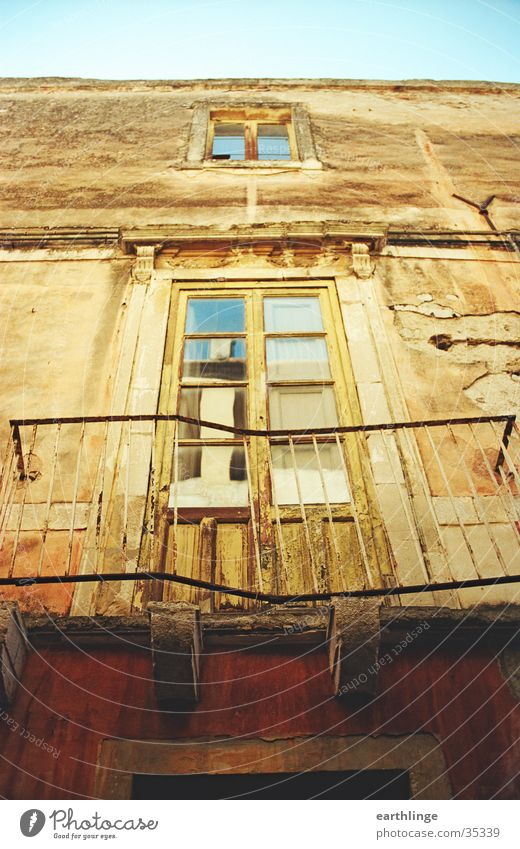 Taormina Italy Sicily House (Residential Structure) Derelict Summer Physics Romance Balcony Window Europe Old Warmth Blue sky Tilt