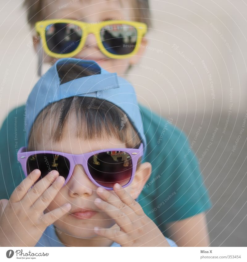 Human being Child Summer Joy Face Eyes Emotions Playing Funny Friendship Moody Infancy Happiness Eyeglasses Toddler Sunglasses