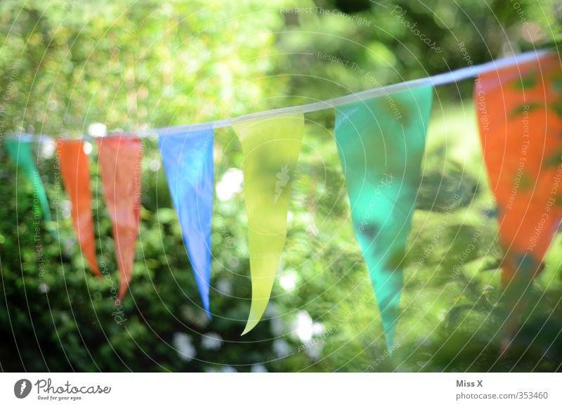summer festival Garden Decoration Party Feasts & Celebrations Birthday Spring Summer Bushes Illuminate Multicoloured Moody Joy Flag Paper chain Hang