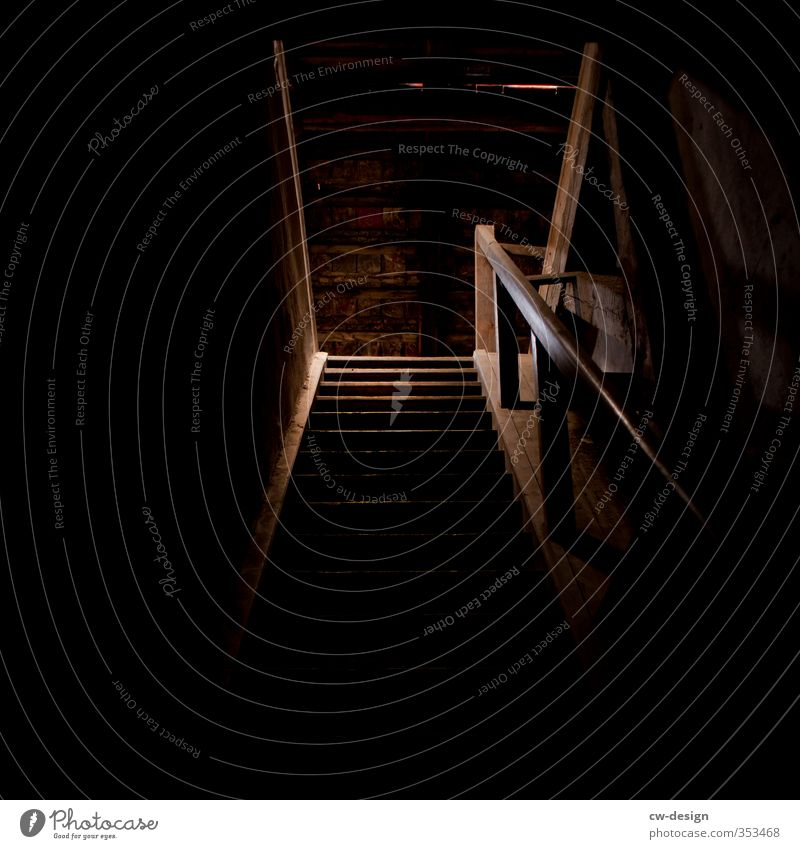 steep Manmade structures Building Architecture Wall (barrier) Wall (building) Stairs Roof Old Esthetic Attic Colour photo Subdued colour Interior shot Deserted