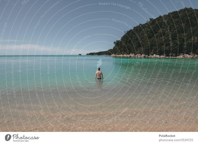 #AS# bathing fun Young man bathe Paradise vacation Summer Swimming & Bathing Vacation & Travel Water Ocean Swimming pool Waves Beach Joy Exterior shot Man Wet