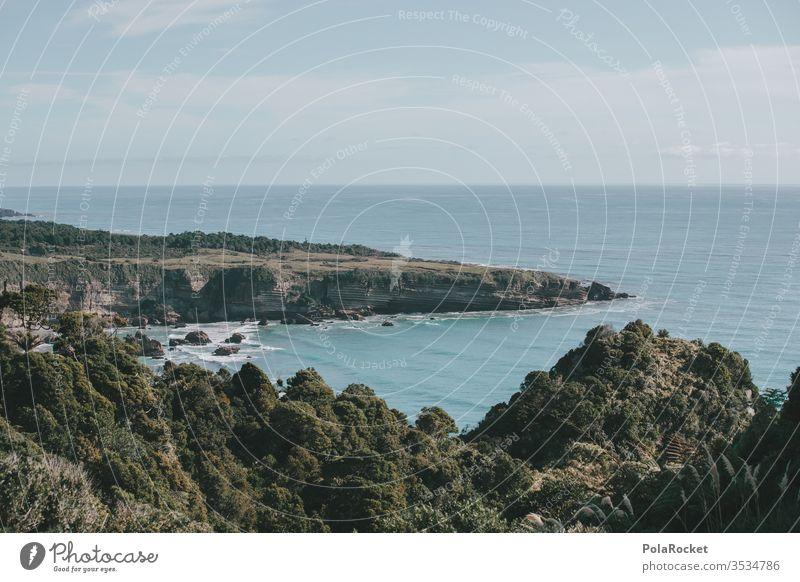 #As# Close to Pancake Pancake Rocks New Zealand New Zealand Landscape ocean Coast coastal strip coastline Waves land mass Rocky coastline rock