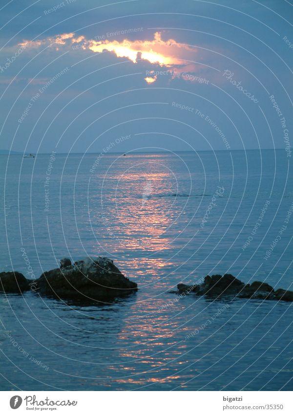 Sunset Clouds Ocean Surf Sunrise Sky
