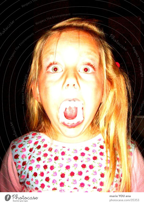 Child Vampire Teeth Creepy Obscure Portrait photograph Hallowe'en Zombie Dracula Werewolf