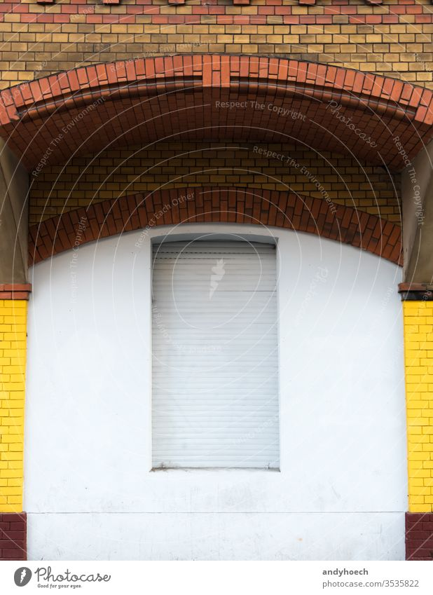 The window under the brick arch is closed ancient architecture Background Berlin blank blind brick wall building building exterior built structure city colored