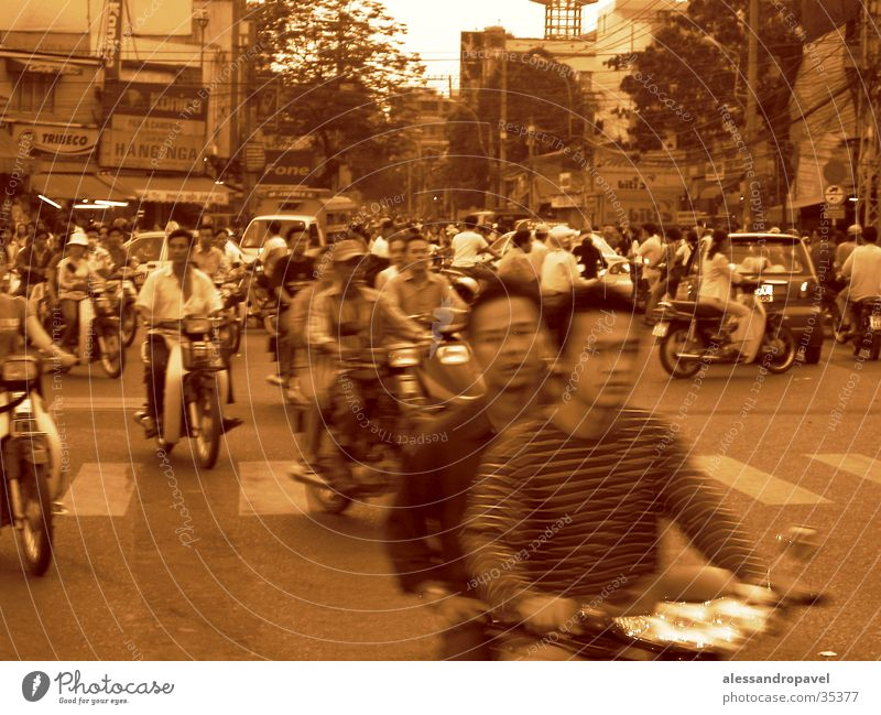 Traffic in Saigon Muddled Success In the thick of it instead of just being there