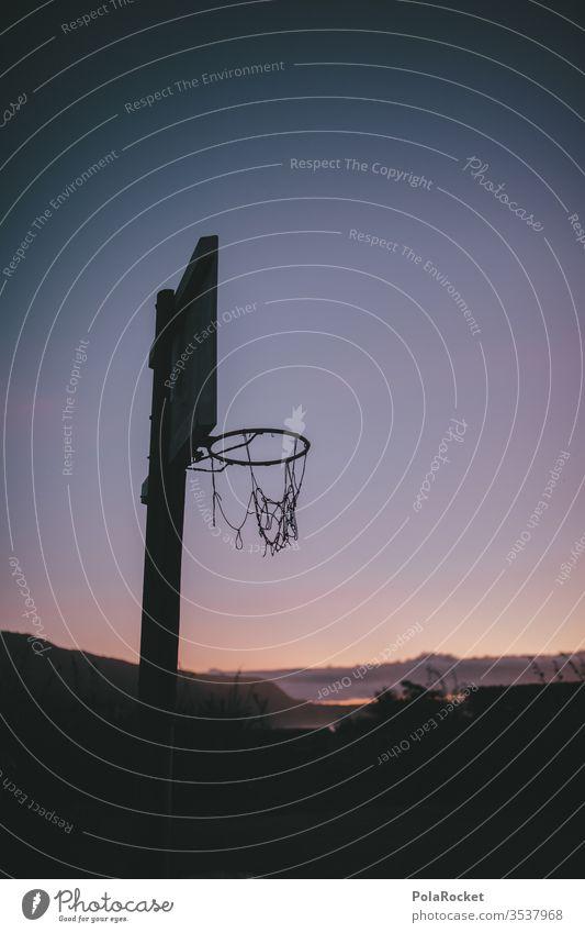 #As# Three-way beat basketball hoop Basketball Basketball basket basketball court basketball net Paradise Leisure and hobbies vacation Vacation mood Deserted
