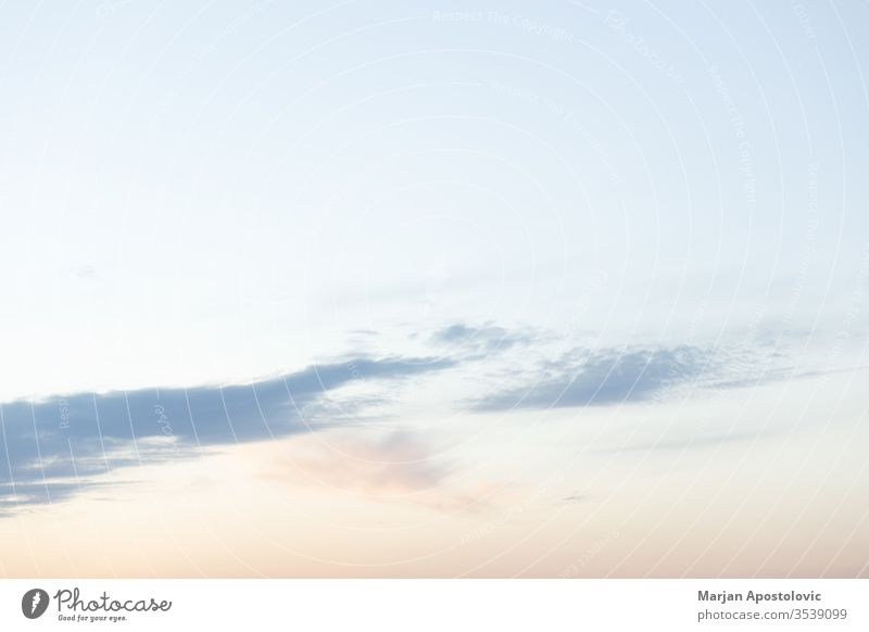 View of the beautiful milky sky in sunset abstract aspirations atmosphere awe background beauty blue climate cloud clouds cloudscape colorful dawn dramatic
