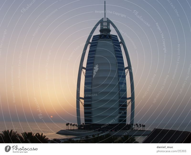 Dubai Sunset United Arab Emirates Success Burj el Arab sundown