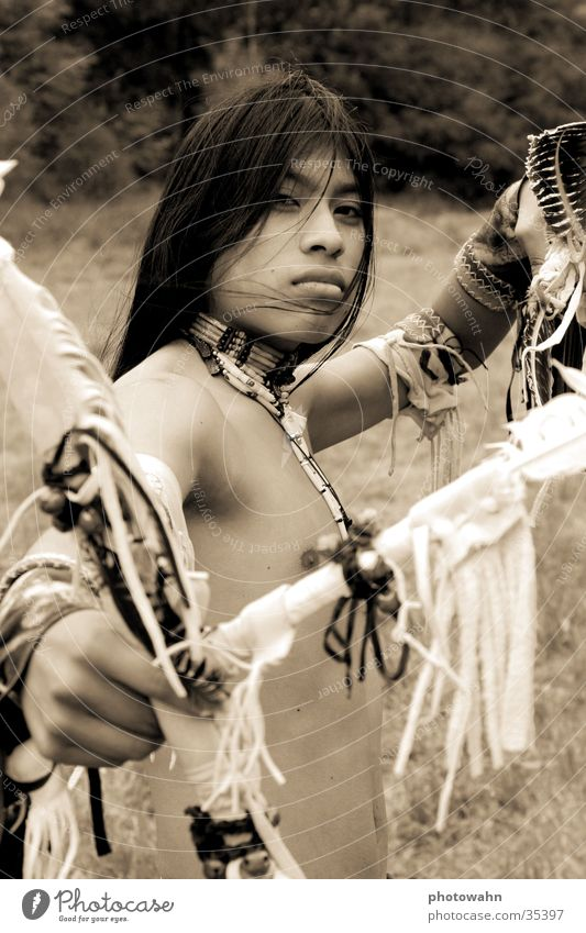 Man Nature Music Long-haired Native Americans