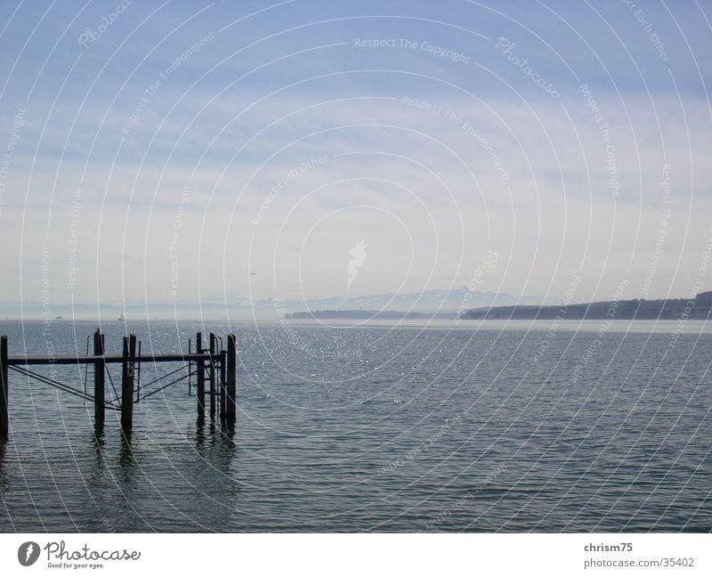 Nature Water Calm Think Landscape Vantage point Lake Constance