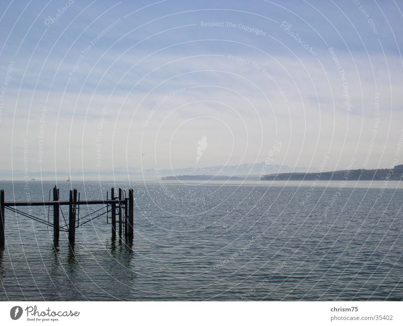 Nature Water Calm Think Landscape Vantage point Lake Constance
