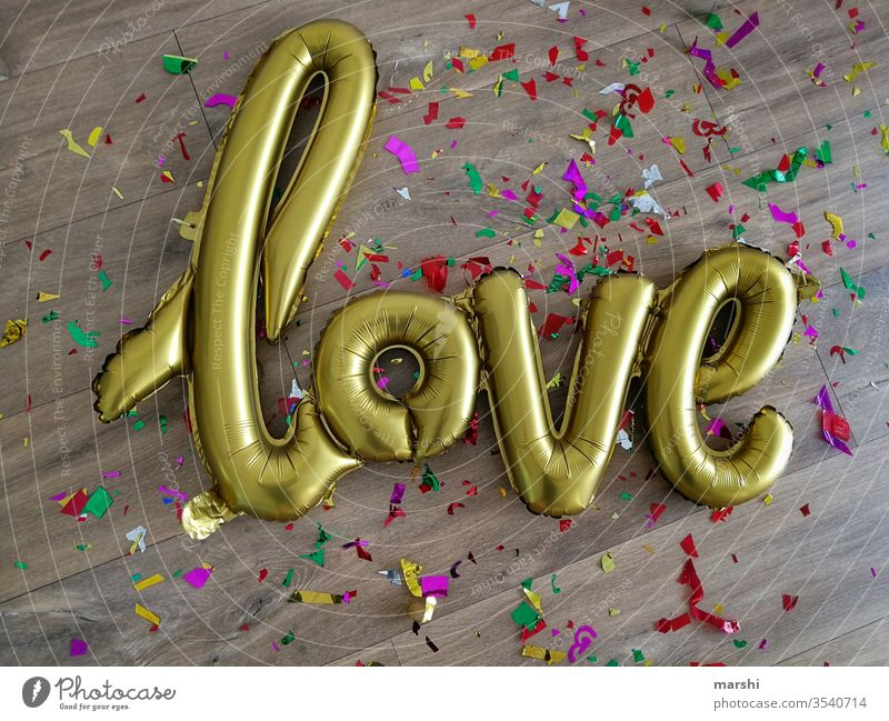 love is everywhere Love Balloon Party Confetti sensation In love Wedding Birthday celebration cute celebrations Declaration of love get married Party mood