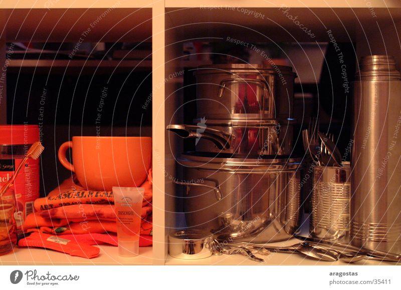 Metal Orange Room Glittering Living or residing Cup Silver Pot Cutlery Spoon