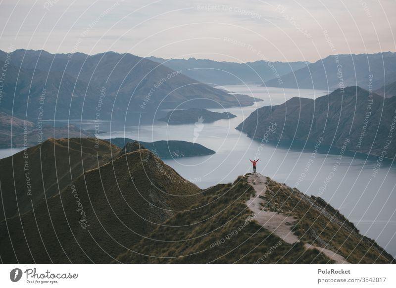 #As# Rd Roy's Peak New Zealand New Zealand Landscape hike Hiking explore explorer Lake Lakeside Mountain Mountain range mountain lake Red Freedom wide Nature