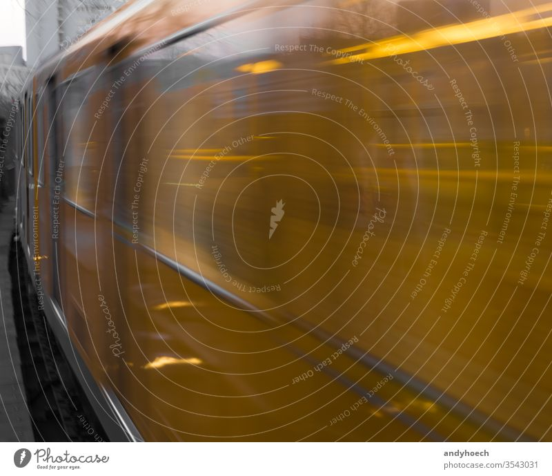 The berlin subway close and in full speed arrival Berlin blur burred city door electric europe fast german germany hectic ness historic illumination
