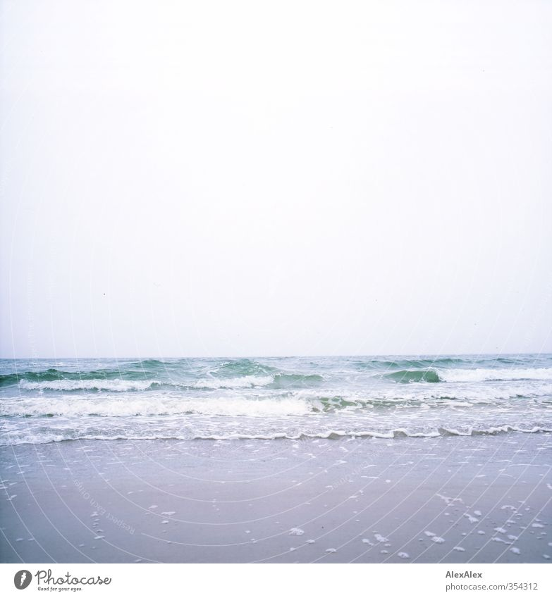 Vacation & Travel Blue Green Water White Ocean Relaxation Clouds Beach Environment Far-off places Life Movement Freedom Coast Sand
