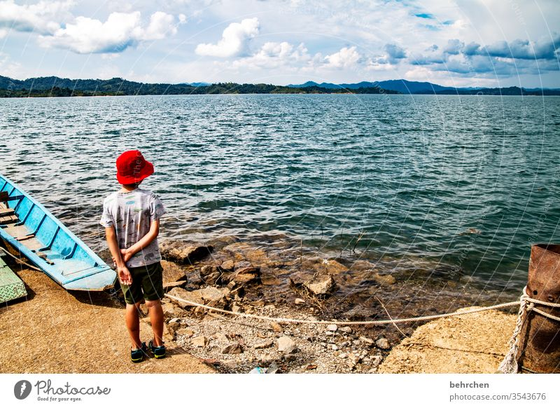 look into the distance Sunlight Contrast Light Day Exterior shot Colour photo Iban Reservoir Wanderlust Impressive batang ai Sarawak Borneo Malaya Asia