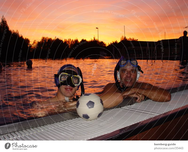underwater rugby Rugby Bamberg Swimming pool Sunset Sports Water Underwater photo