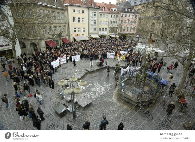 University & College student Science & Research Bavaria Franconia Politics and state Demonstration Protest Upper Franconia Bamberg