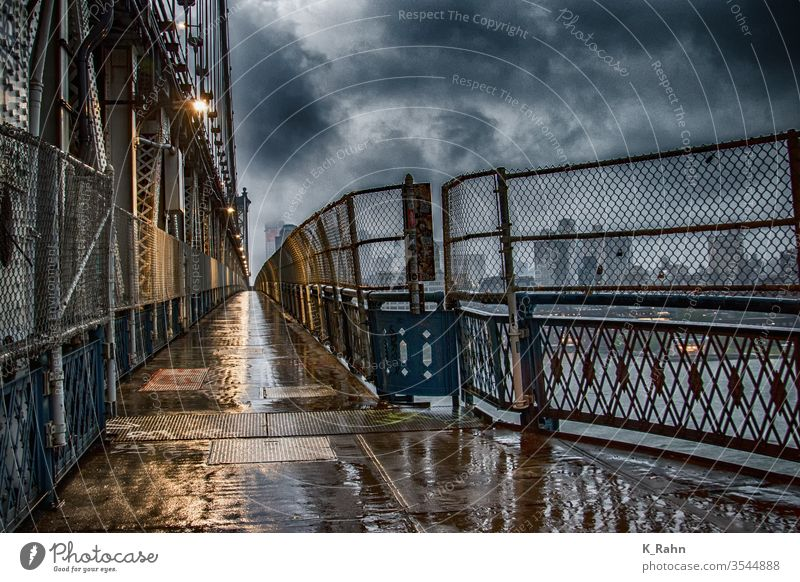 Manhattan Bridge bridge Fence new york downtown Town Architecture Metal Street EAST courageous Skyline Abstract Wire structures Steel Transport photo