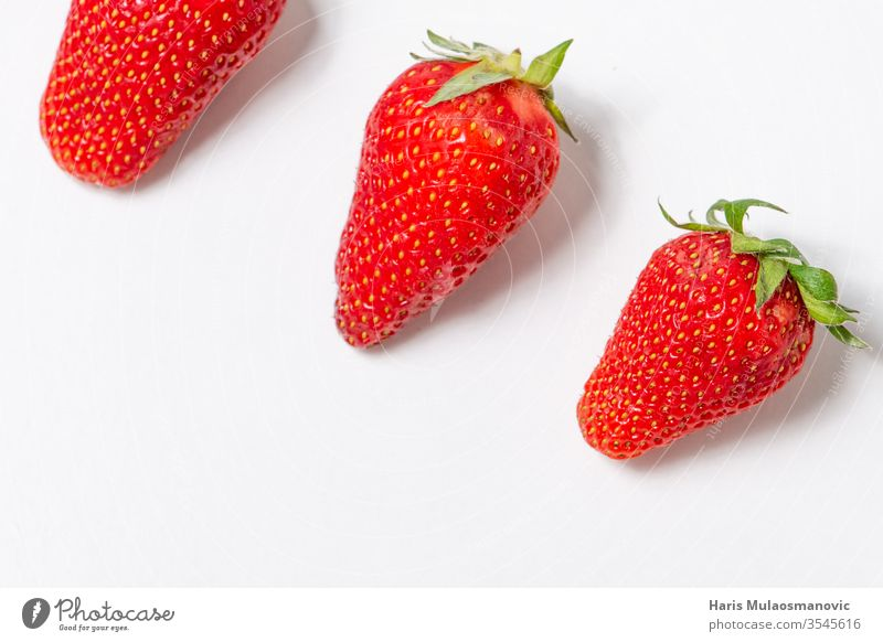 Strawberries isolated on white background with copy space berry bowl closeup delicious dessert diet food fresh fruit fruit day green grow healthy ingredient