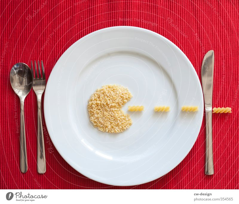 White Red Food Nutrition Crockery Plate Dinner Knives Fasting Lunch Noodles Banquet Dough Cutlery Fork Spoon