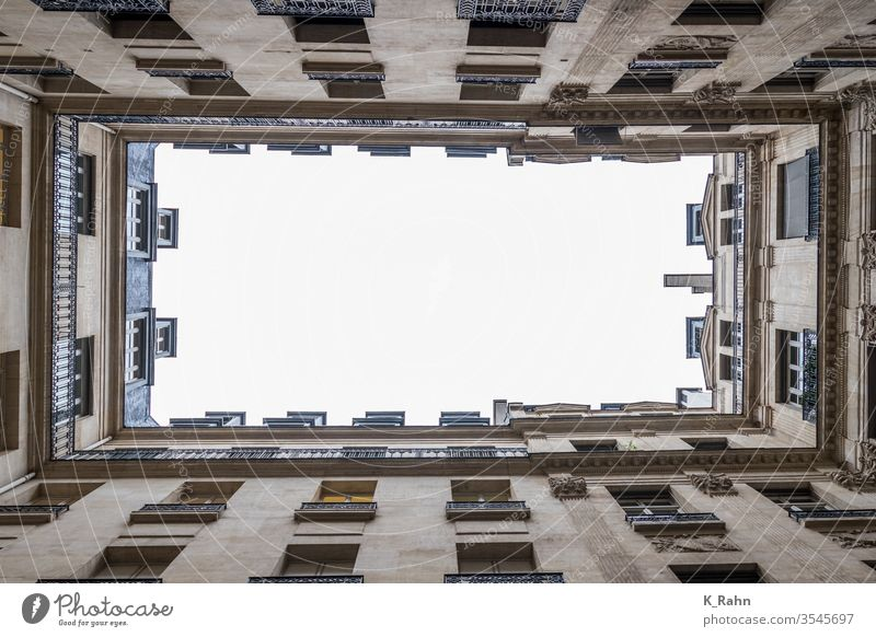 Paris backyard Frame Wall (building) Architecture built Art void antique Image Sky photo House (Residential Structure) vacant Abstract Window Backyard