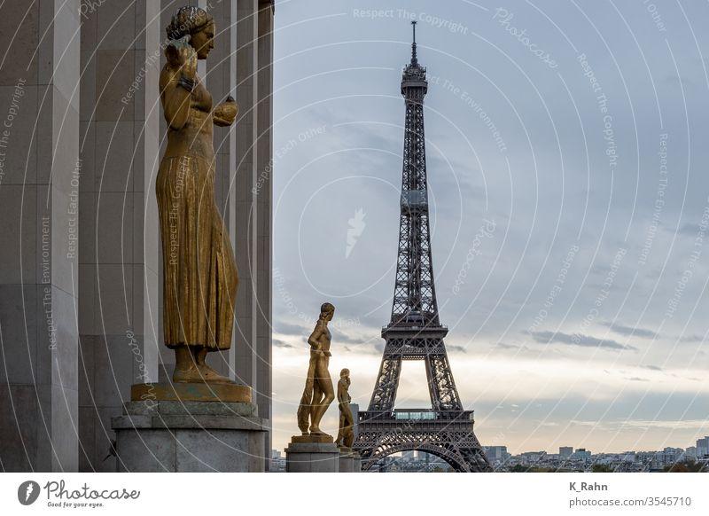 Paris Eiffel Tower paris eiffel tower France cloud formation Sky House (Residential Structure) Street idyllically Historic built Tourism Alley lane Europe