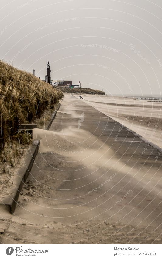 wind blows across the beach sand island storm stormy nature countryside sea destination windy cloud path view relax nobody outdoors sky dune way scenic