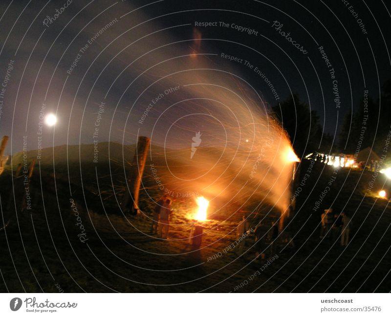 Summer Blaze Club Smoke Mystic Full  moon Outdoor festival Swedish fire column