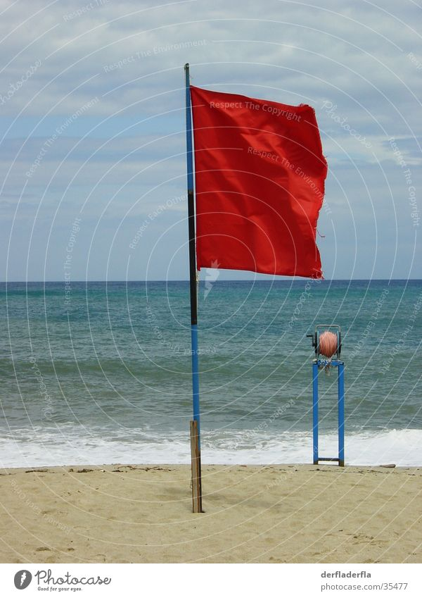 no swimming Flag Beach Ocean Red Wave Flag