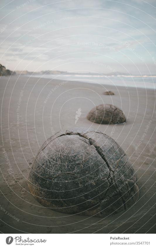 #As# SteinEi Stone Tourist Attraction New Zealand New Zealand Landscape Coast Phenomenon Exterior shot Colour photo Nature Vacation & Travel Ocean Deserted