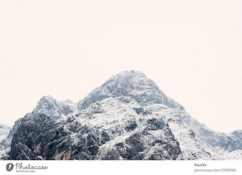 Mountain peaks in winter in the Totes Gebirge / Austrian Alps alps mountain Peak Winter alpine rock Climbing Mountaineering Nature Alpine Mountain Winter Snow